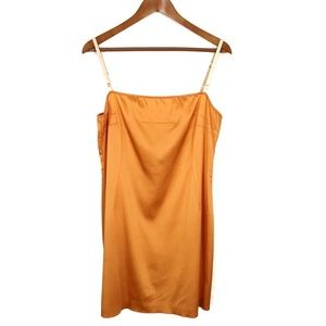 D&G Dolce & Gabbana Bodycon Orange Slip Dress